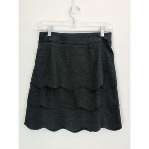 Scalloped layered grey skirt